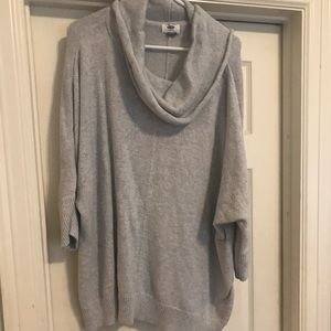 Cowl Neck tunic length sweater